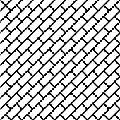 Geometric simple black and white minimalistic pattern, diagonal brick. Can