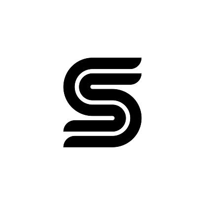 Geometric Speed Letter Logotype S