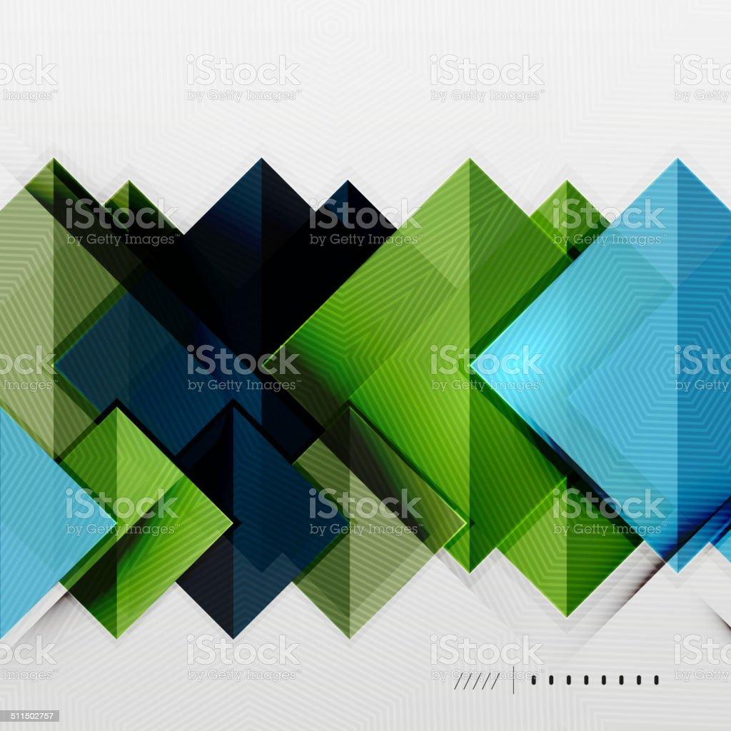 Geometrische Quadrate Und Rhombus Futuristische Vorlage Stock Vektor ...