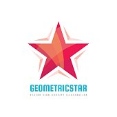 Geometric star - vector sign template concept illustration. Abstract shape design element.