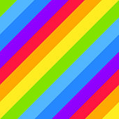 Geometric striped background, bright rainbow spectrum colors. LGBTQ colors. Abstract geometric striped seamless pattern, rainbow stripes. Vector illustration. Colorful wave, wavy LGBT flag.