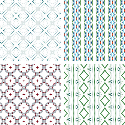 geometric stripes seamless pattern textile textured background collection