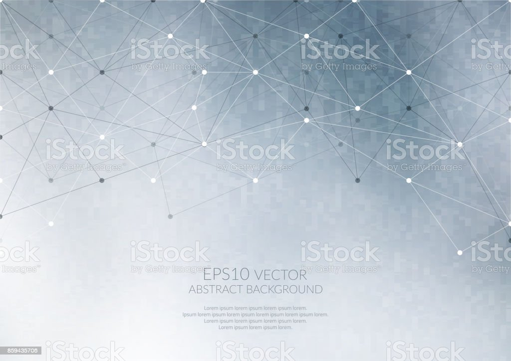 Geometric structure. The link elements in a single network. vector art illustration