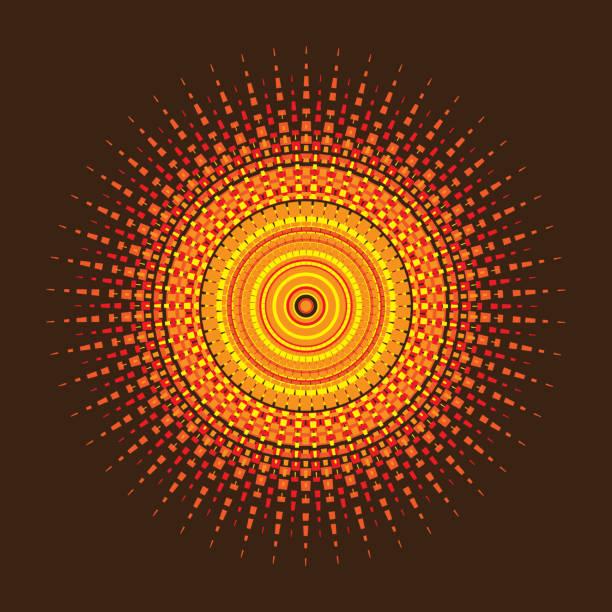 bildbanksillustrationer, clip art samt tecknat material och ikoner med geometrisk sol eller dekorativ rosett vektor - spain solar
