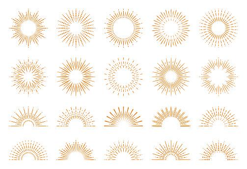 Geometric Sunburst Set
