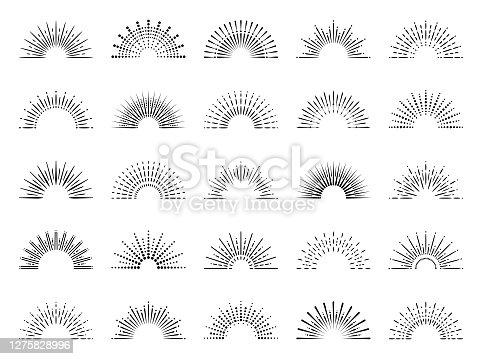 istock Geometric Sunburst Set 1275828996