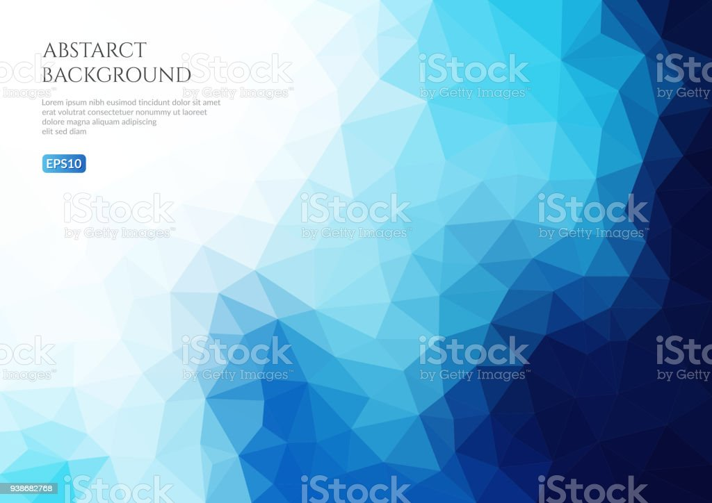Geometric texture of triangles. 3-d surface. vector art illustration