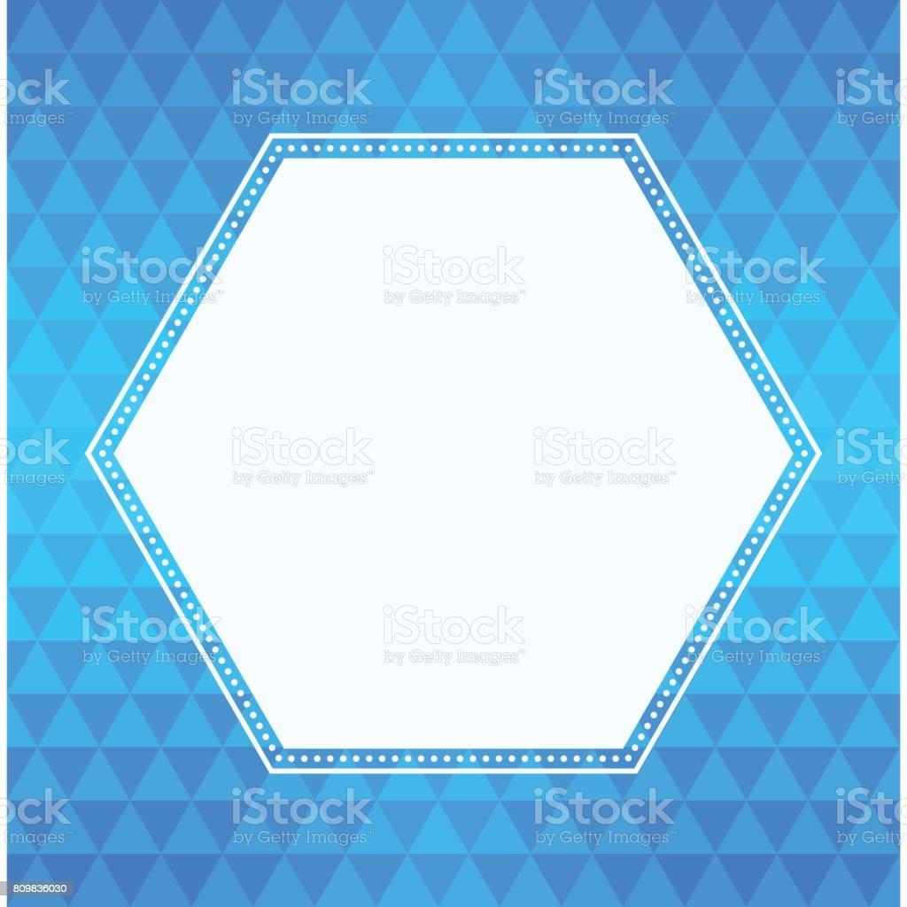 Ilustración de Marco De Antecedentes Y Hexágono Triángulo Geométrico ...