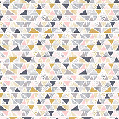 Geometric seamless pattern in vector