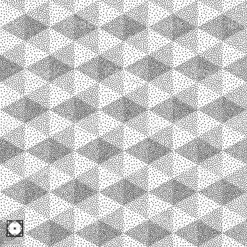 Geometric triangles background. Mosaic. Black and white grainy dotwork design. Pointillism pattern. Stippled vector illustration. royalty-free geometric triangles background mosaic black and white grainy dotwork design pointillism pattern stippled vector illustration stock vector art & more images of abstract