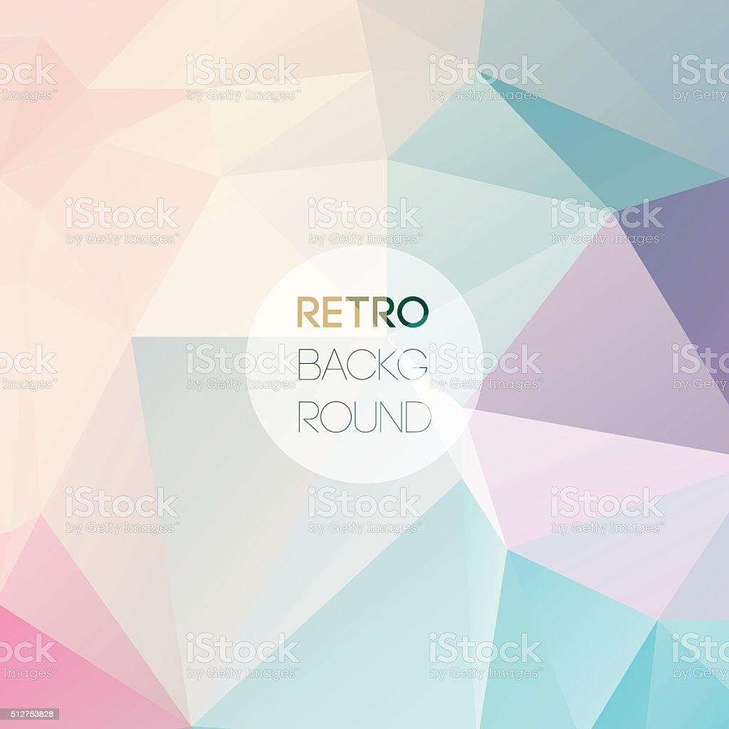 Geometric triangular light background Retro triangle vector art illustration