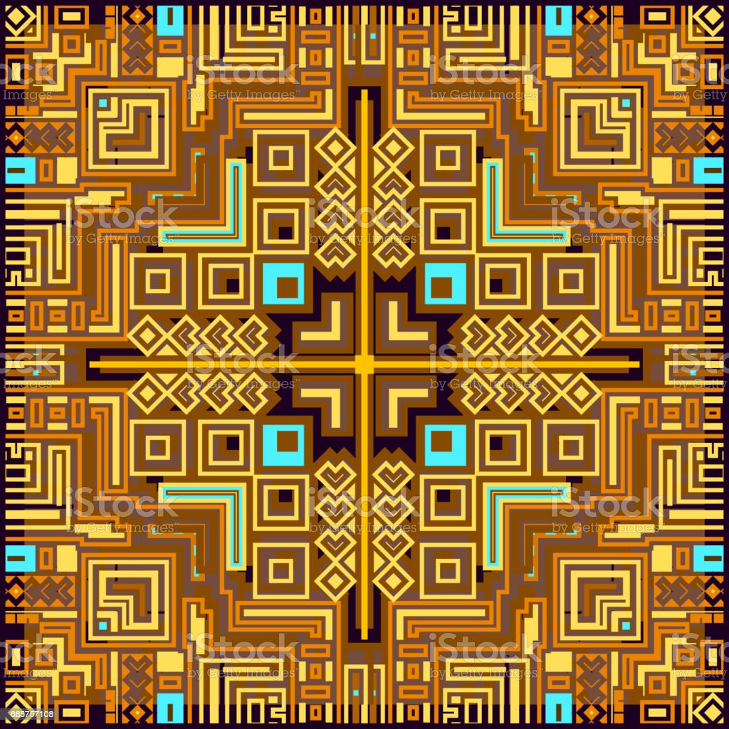 Geometric tribal colorful ethnic abstract design decorative pattern frame ornament background vector illustration geometric tribal colorful ethnic abstract design decorative pattern frame ornament background vector illustration - stockowe grafiki wektorowe i więcej obrazów abstrakcja royalty-free