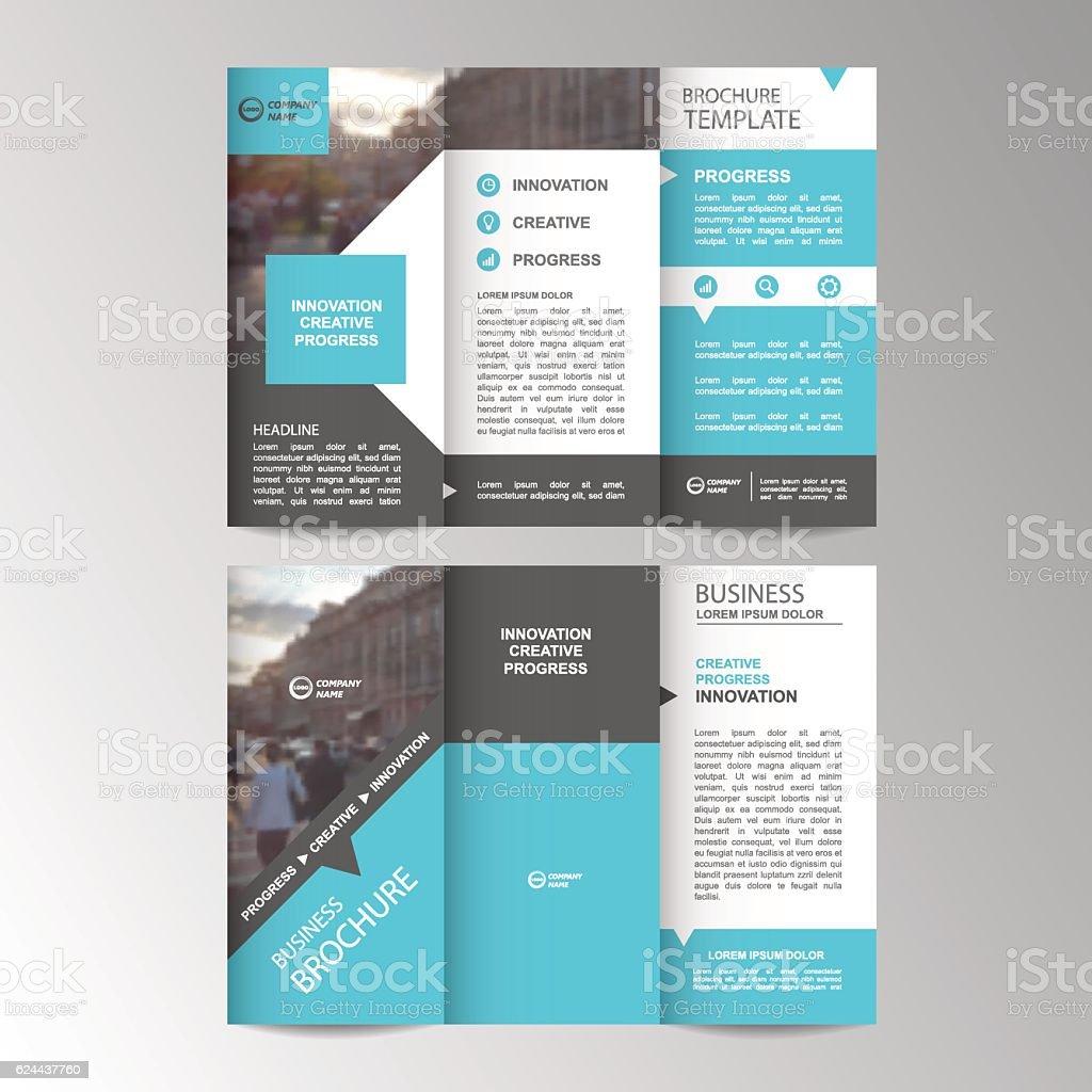 Geometric Trifold Business Brochure Template Stock Vektor Art und mehr  Bilder von Abstrakt