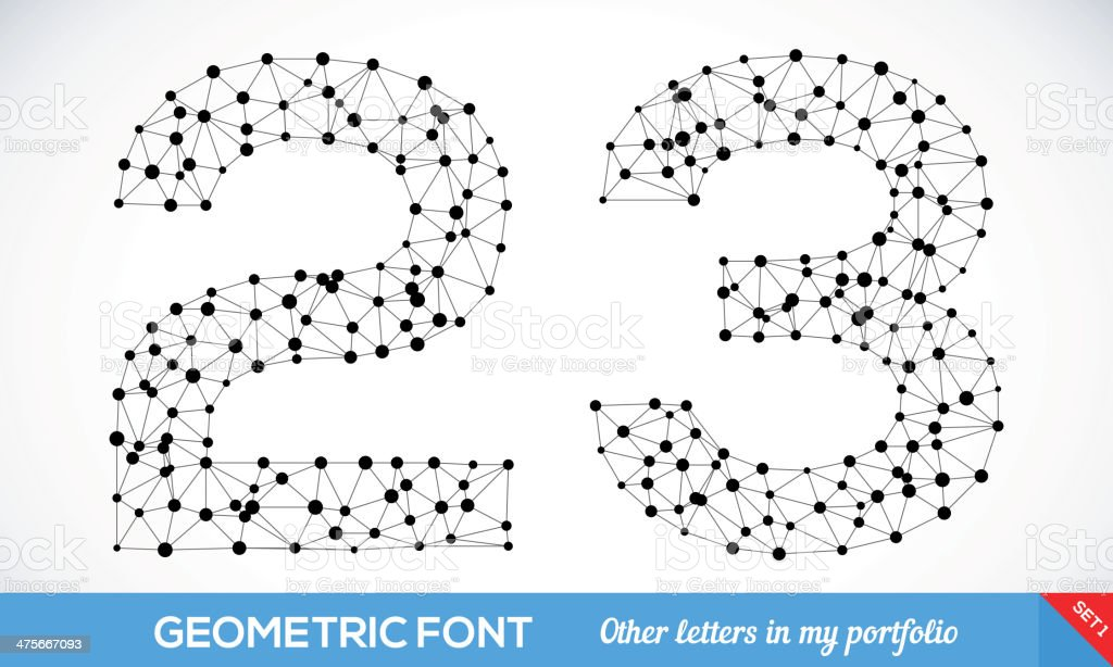 Geometric type font royalty-free geometric type font stock vector art & more images of abstract