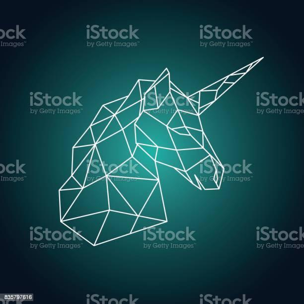 Geometric unicorn head side view vector illustration vector id835797616?b=1&k=6&m=835797616&s=612x612&h=cnqphn5mxegaqiz08jginjmqaxpycpzuow7uflibtbw=