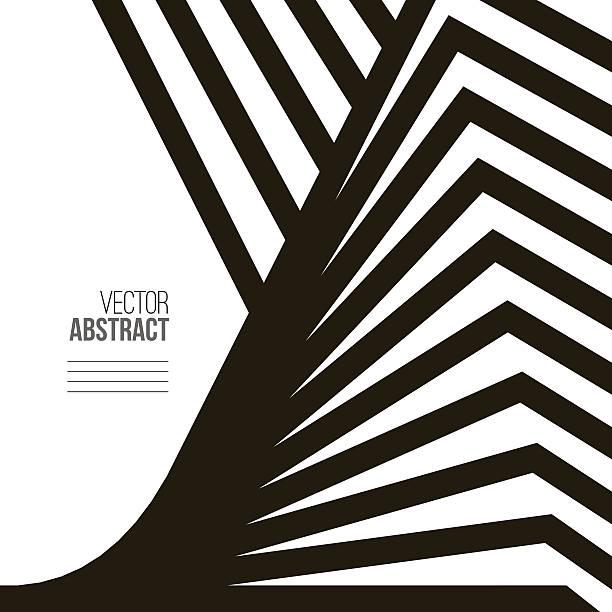 Geometric vetor preto e branco fundo - ilustração de arte em vetor