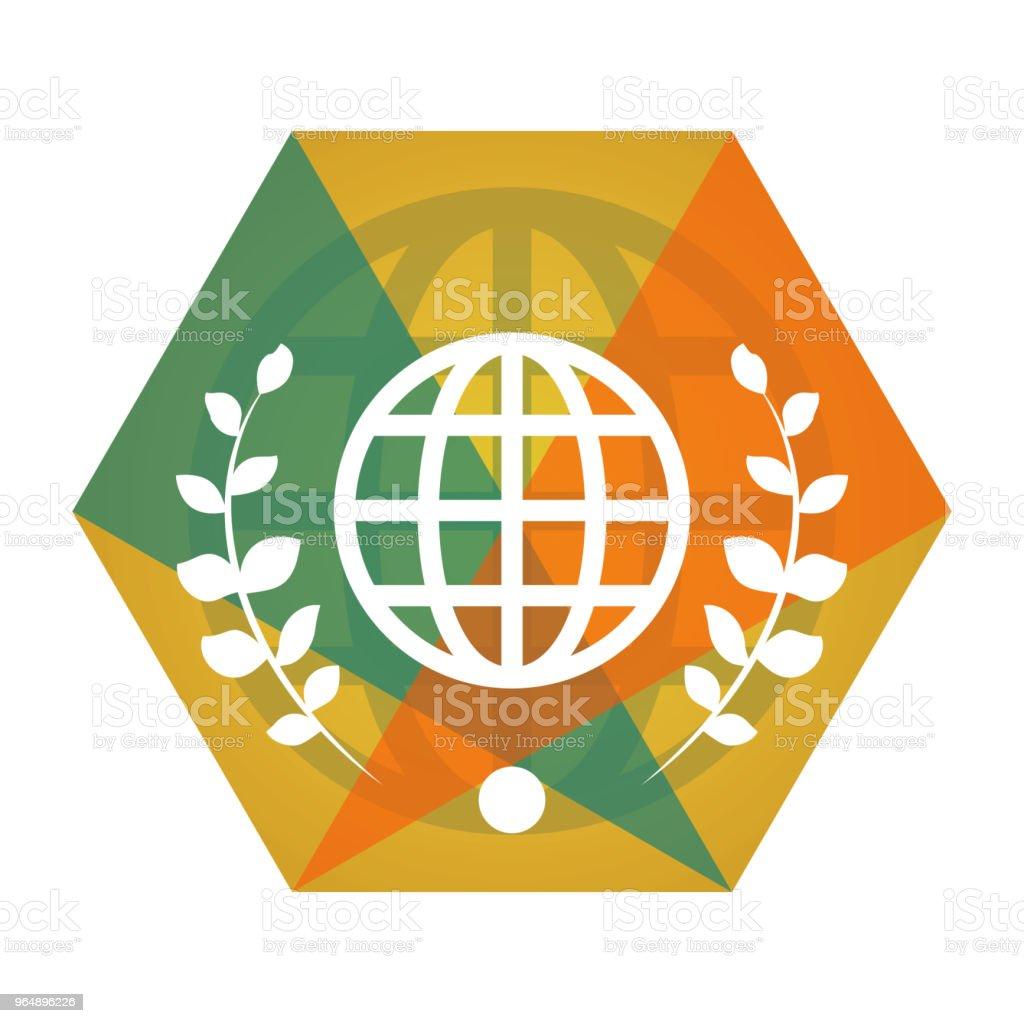 幾何向量地球儀平面圖標 - 免版稅俄羅斯圖庫向量圖形