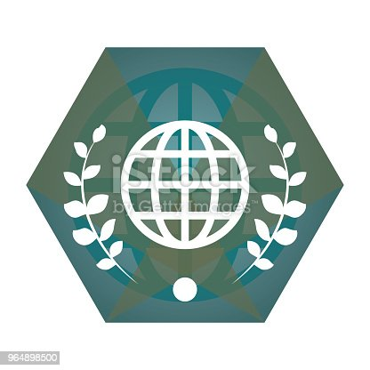 Geometric Vector Globe Flat Icon Stock Vector Art & More Images of Abstract 964898500