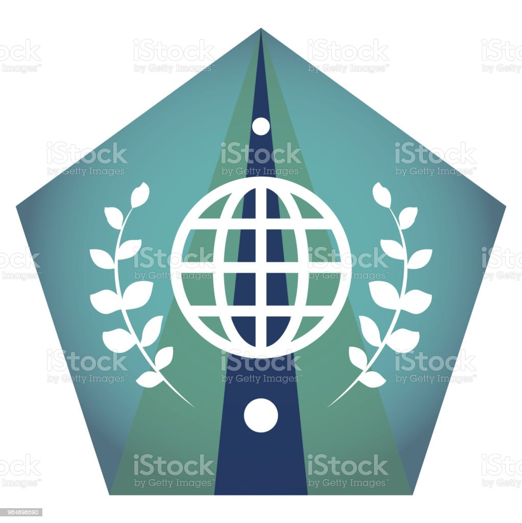 Geometric vector globe flat icon royalty-free geometric vector globe flat icon stock vector art & more images of abstract