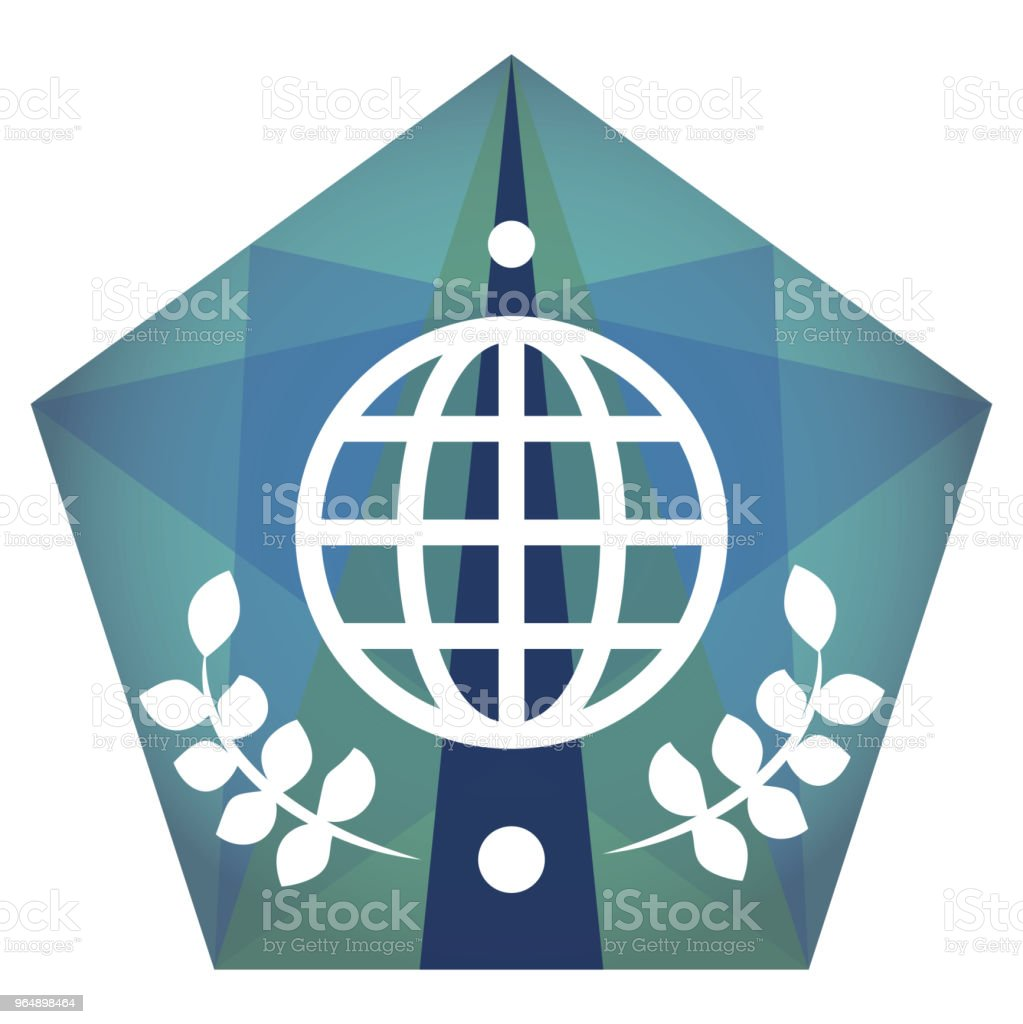 Geometric vector globe  icon royalty-free geometric vector globe icon stock vector art & more images of abstract