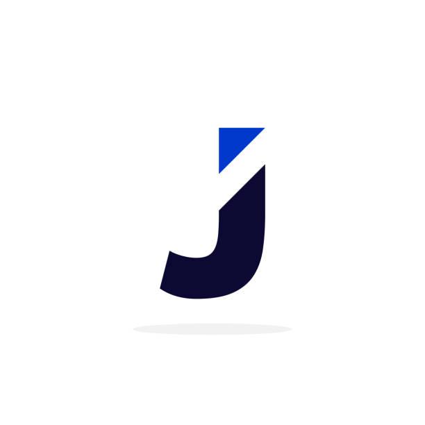 Geometric Vector Logo Letter J Modern Vector Logo Letter J. J Letter Design Vector letter j stock illustrations
