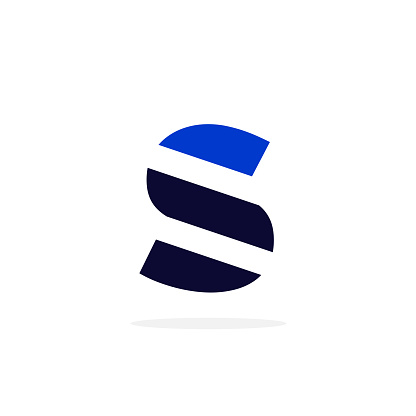 Geometric Vector Logo Letter S