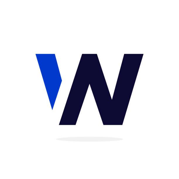Geometric Vector Logo Letter W Modern Vector Logo Letter W. W Letter Design Vector w logo stock illustrations