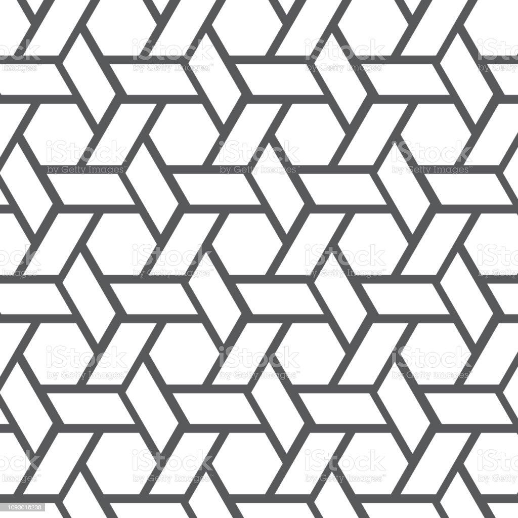 Geometrik Vektor Desen Tekrarlayan Dogrusal Serit Rhombus Sekli