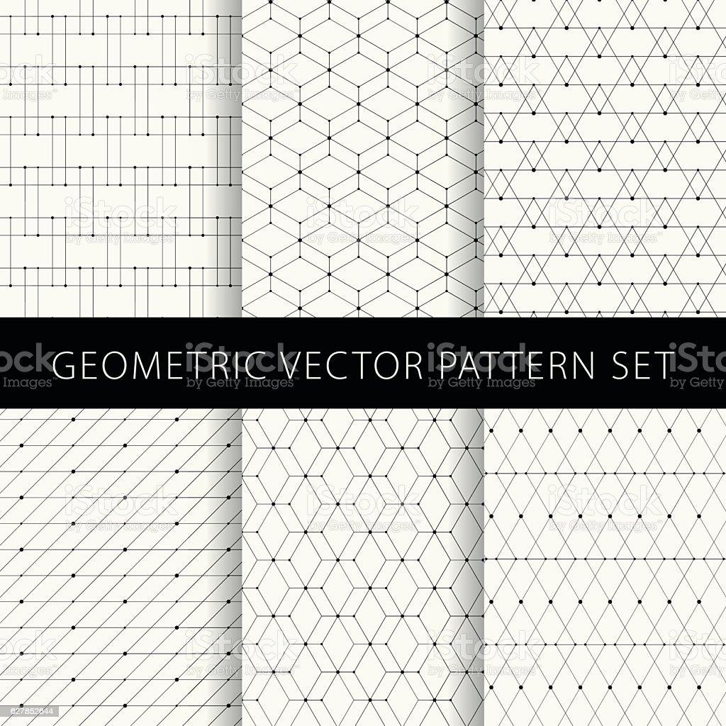 Geometric vector pattern set vector art illustration