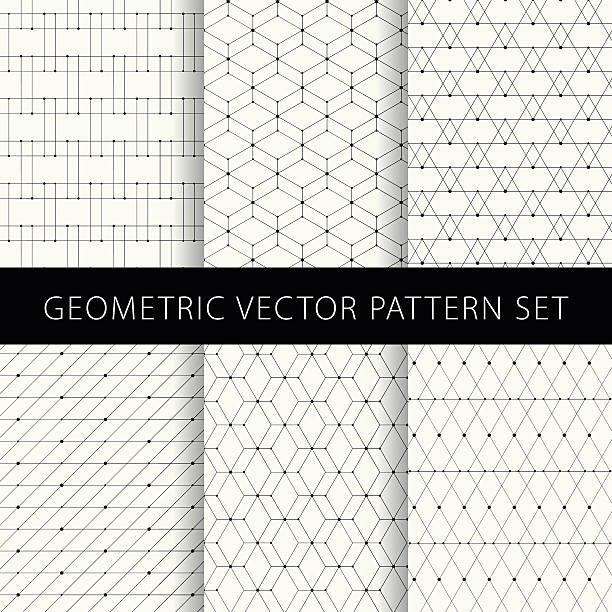 stockillustraties, clipart, cartoons en iconen met geometric vector pattern set - triangel