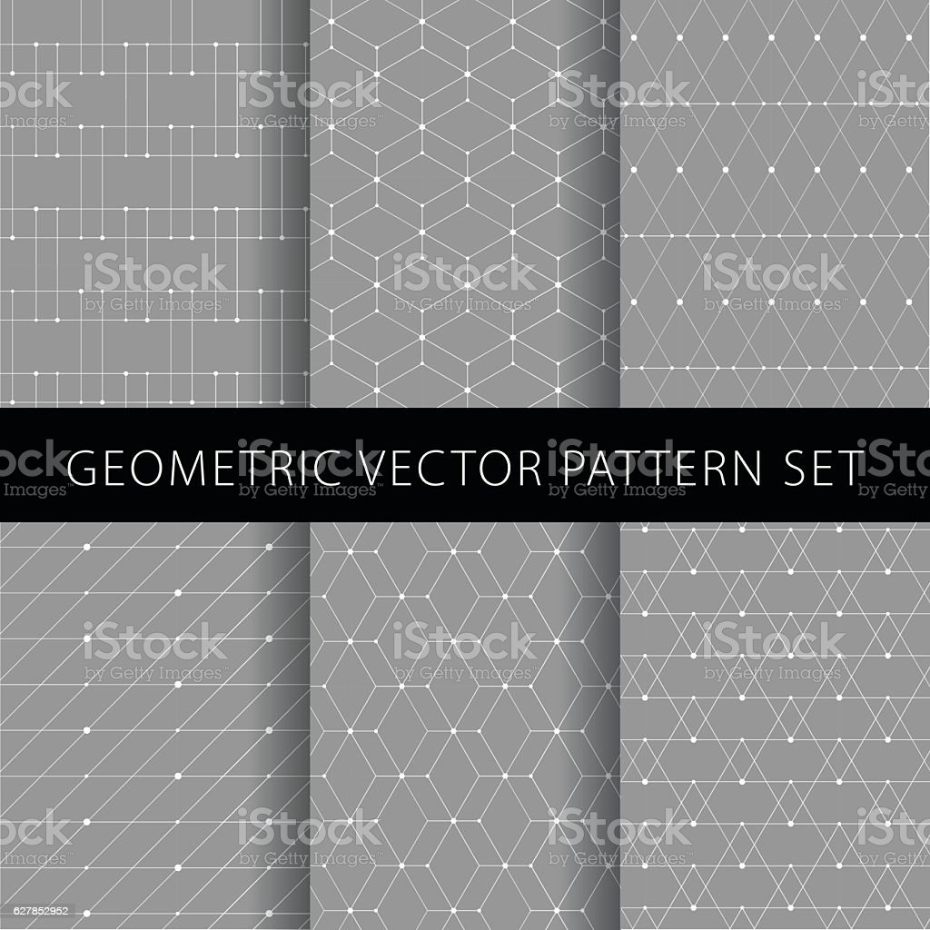 Geometric vector pattern set vector art illustration