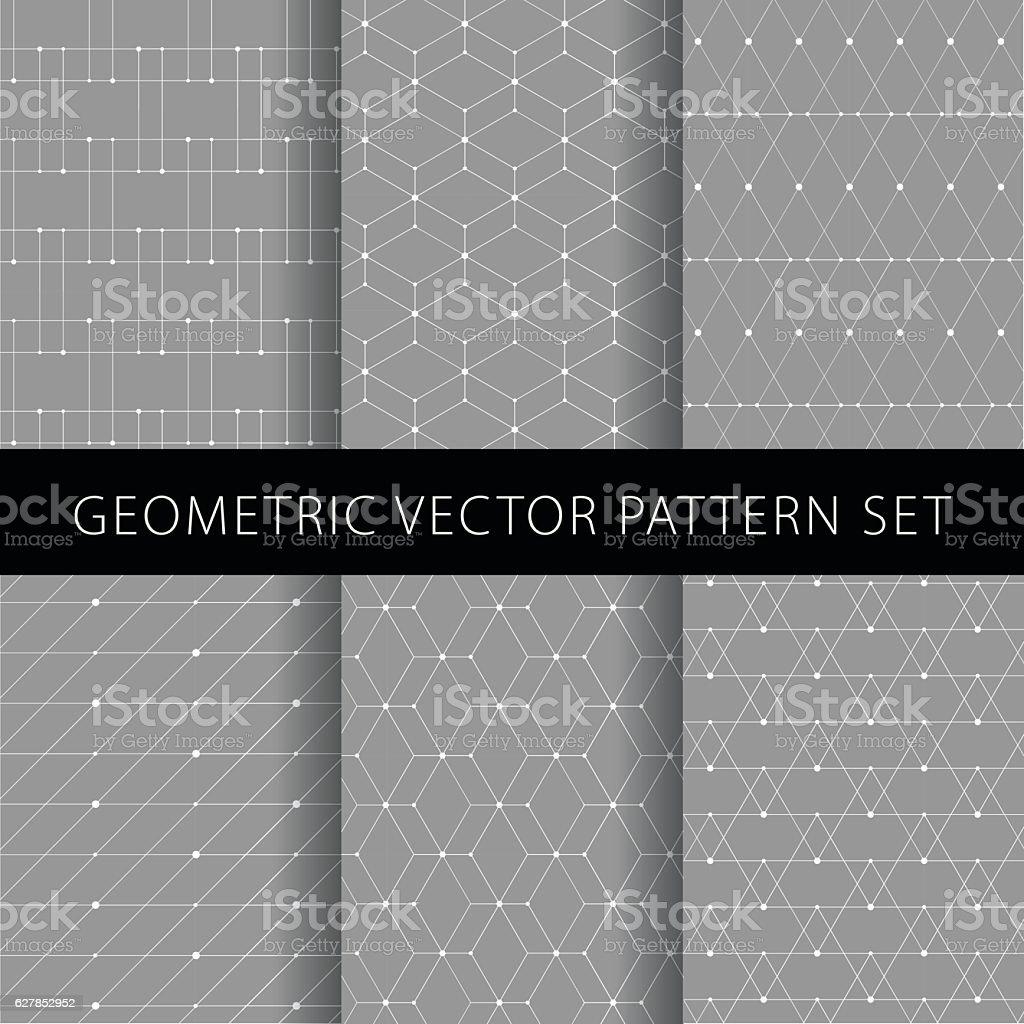 Geometric vector pattern set ベクターアートイラスト
