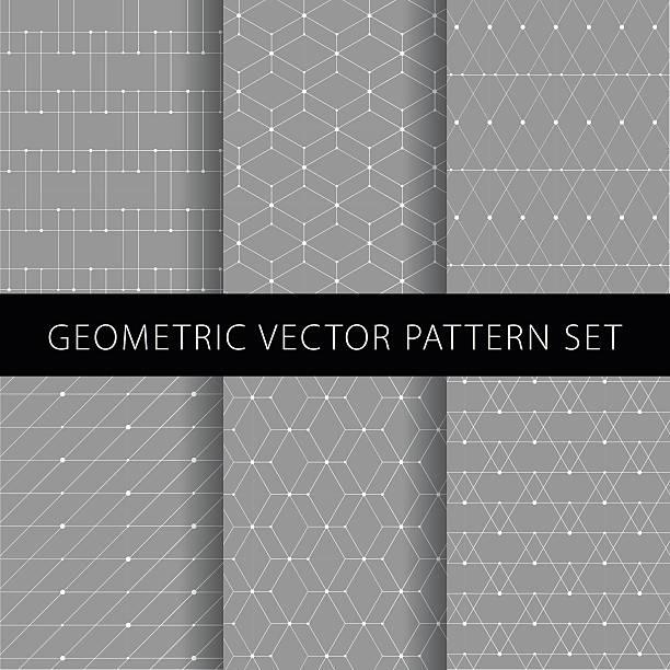 geometric vector pattern set - black tie events stock illustrations, clip art, cartoons, & icons