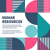 Vibrant human resources graphic design makes typography stand out. Eye-catching ad template to boost brochures, reports, posters, presentations, banners or web pages.