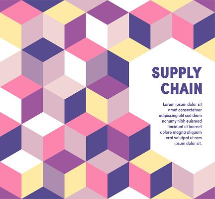 Geometric & Vibrant Supply Chain Vector Cover Design