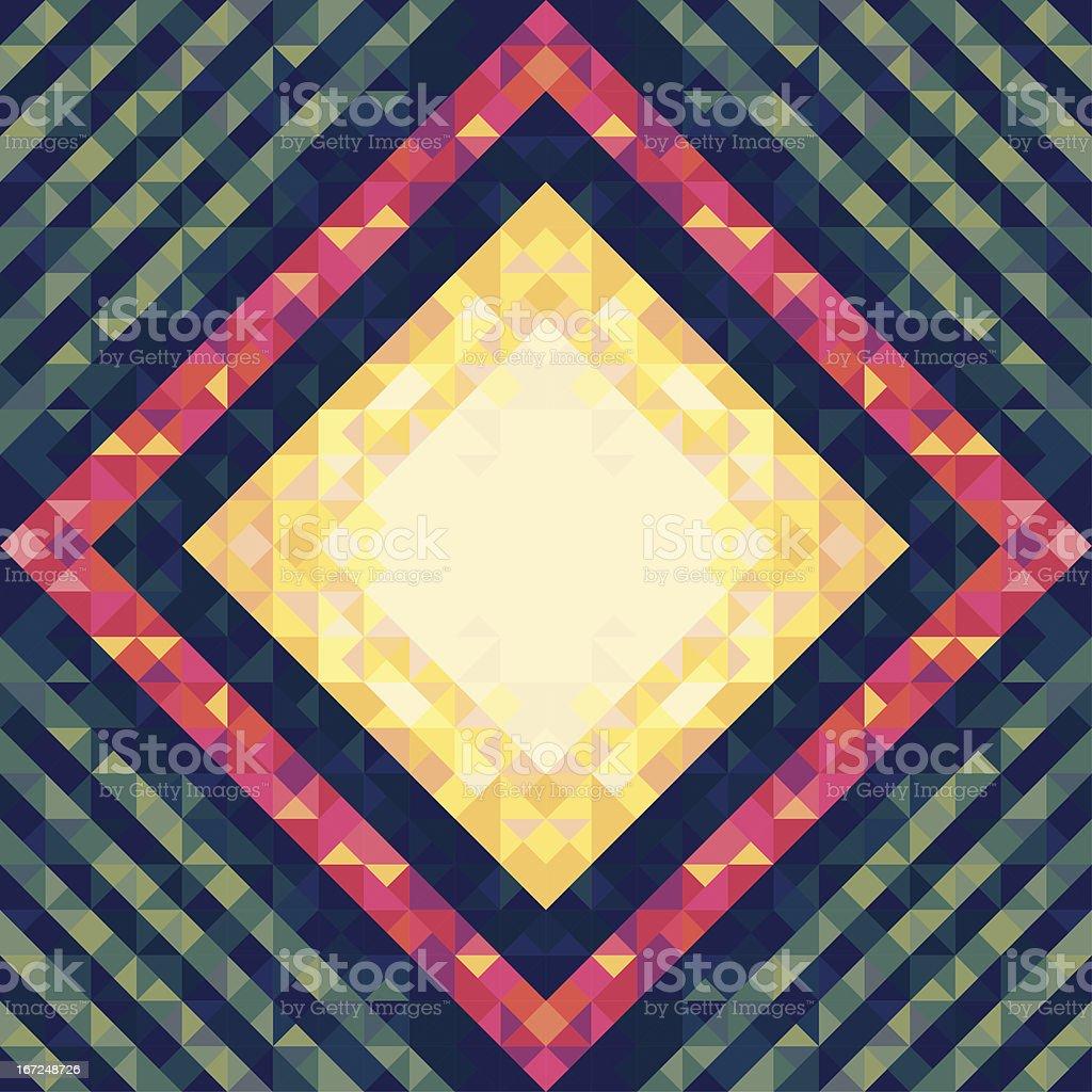 Geometric Vintage Background 09 royalty-free stock vector art