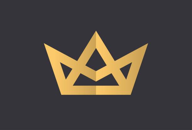 illustrations, cliparts, dessins animés et icônes de géométrique vintage couronne création abstraite logo vector modèle de conception. vintage couronne logo royal king queen concept symbole logotype concept icône. - couronne reine