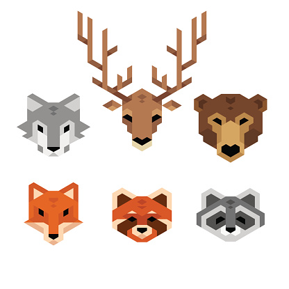 Geometric Wild Animals Stock Illustration - Download Image ...
