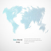 Abstract global geometric world map background. High resolution jpeg file included (300dpi).