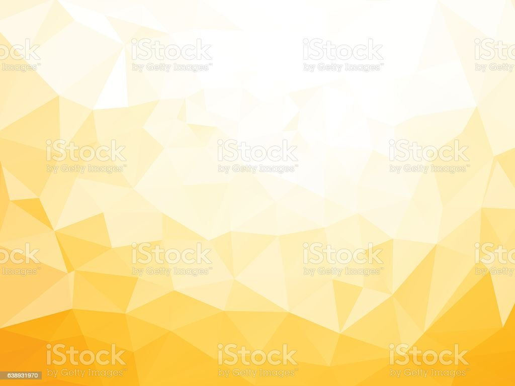 geometric yellow pattern low poly yellow pattern Abstract stock vector