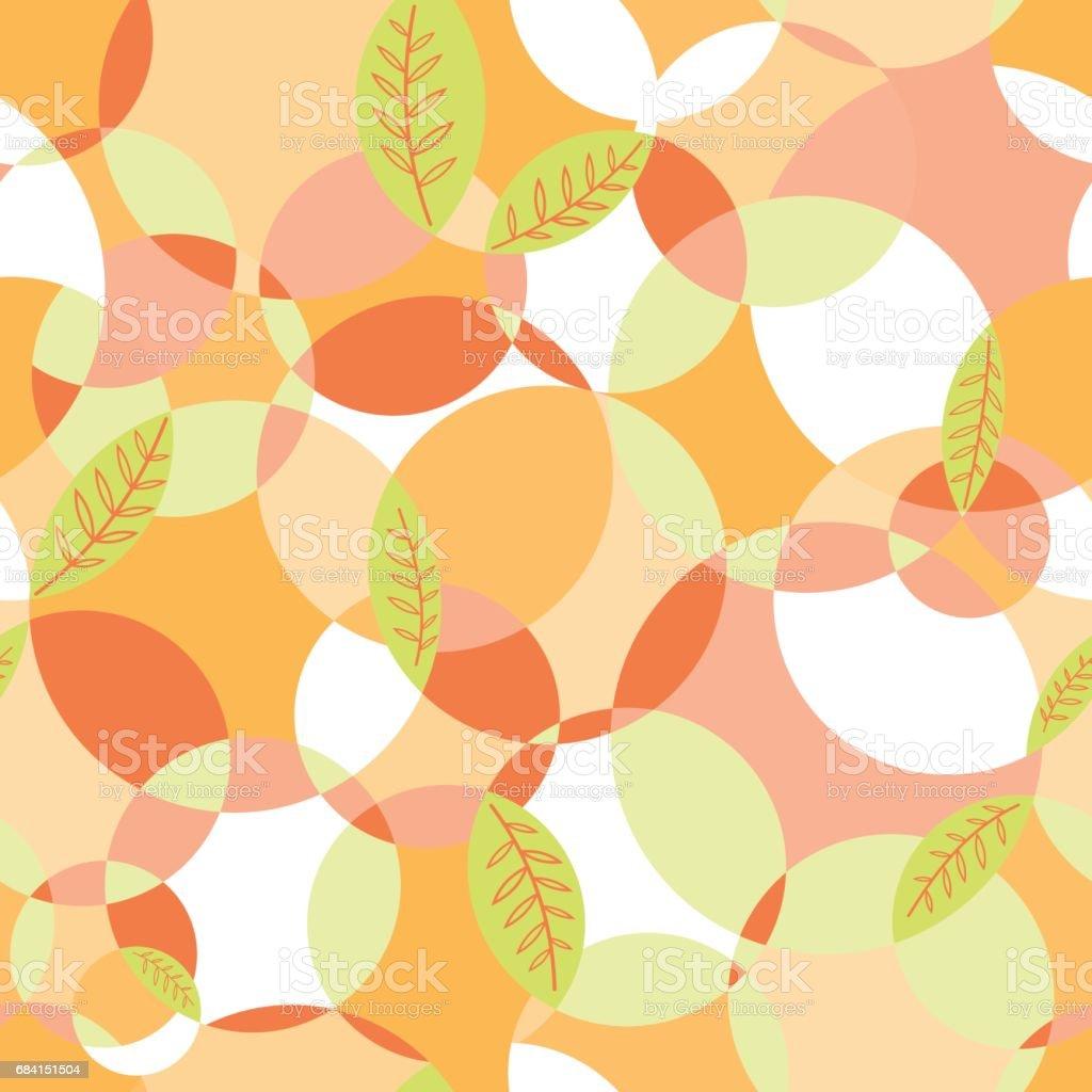Geometric_Random_Pattern_Leaves_Orange geometricrandompatternleavesorange - immagini vettoriali stock e altre immagini di astratto royalty-free