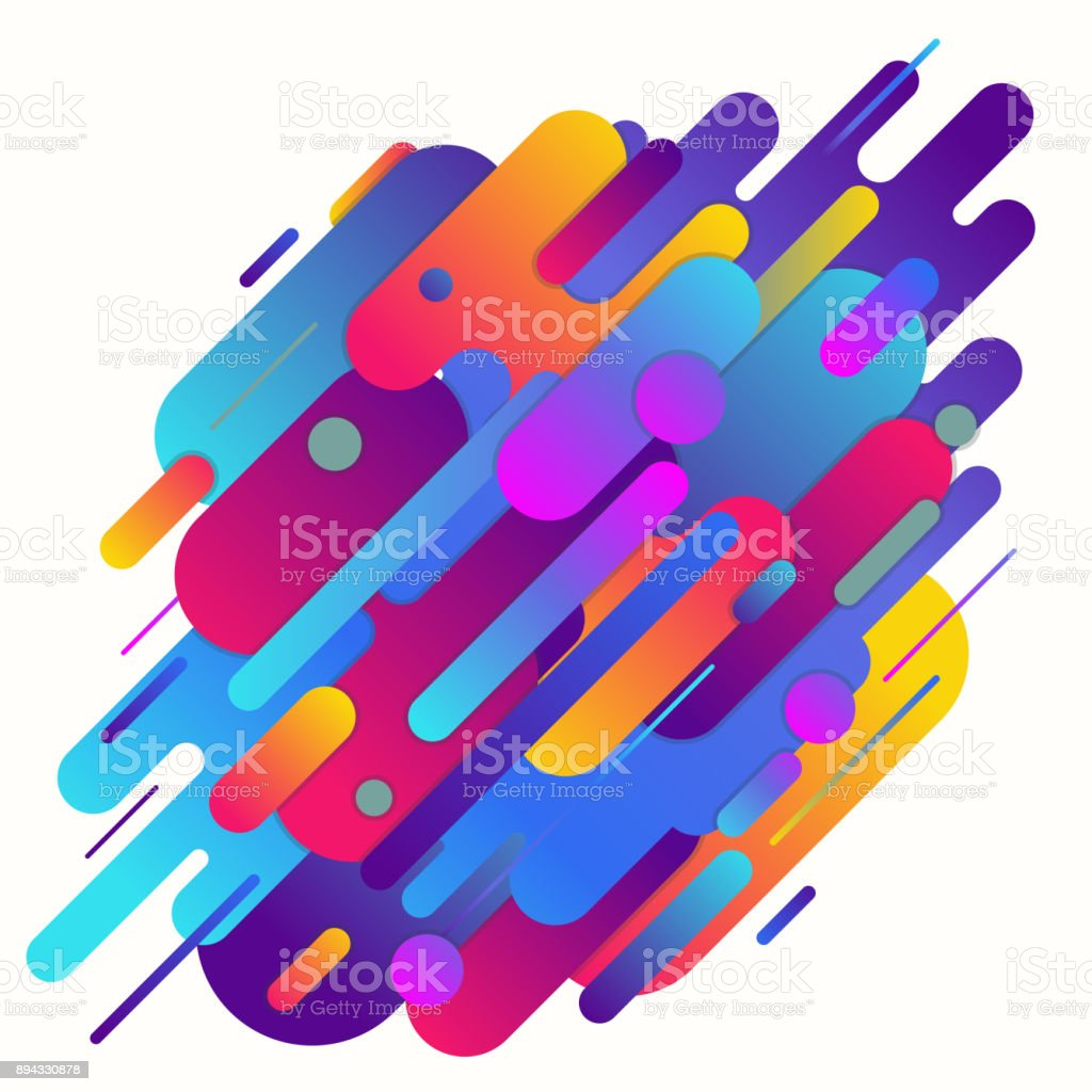Geometrical abstract background vector art illustration