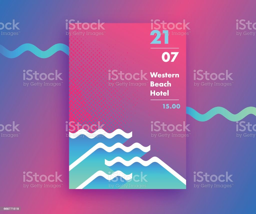 Geometrical abstract poster design vector art illustration