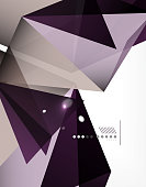 Geometrical abstract triangle background