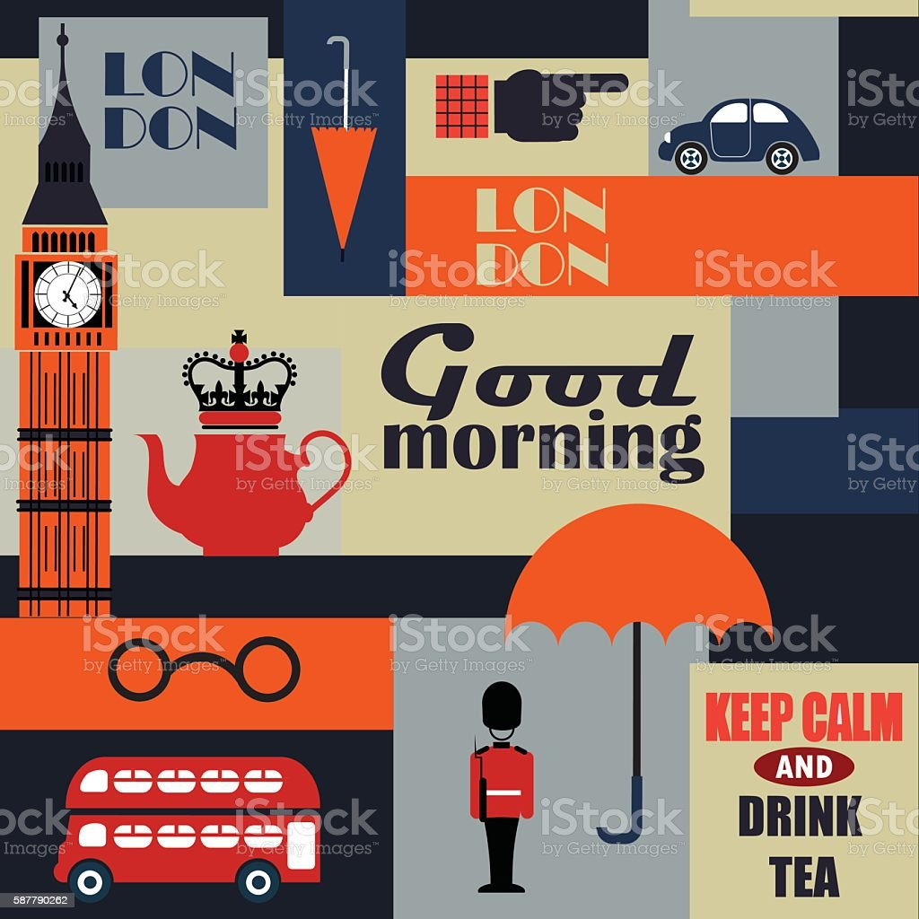 geometrical british vector background - ilustración de arte vectorial
