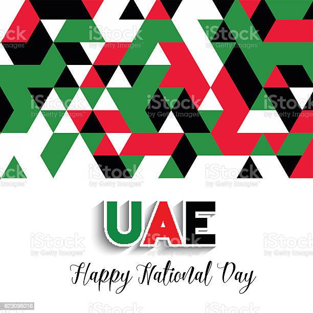 Geometrical Design Background For United Arab Emirates National 12월에 대한 스톡 벡터 아트 및 기타 이미지