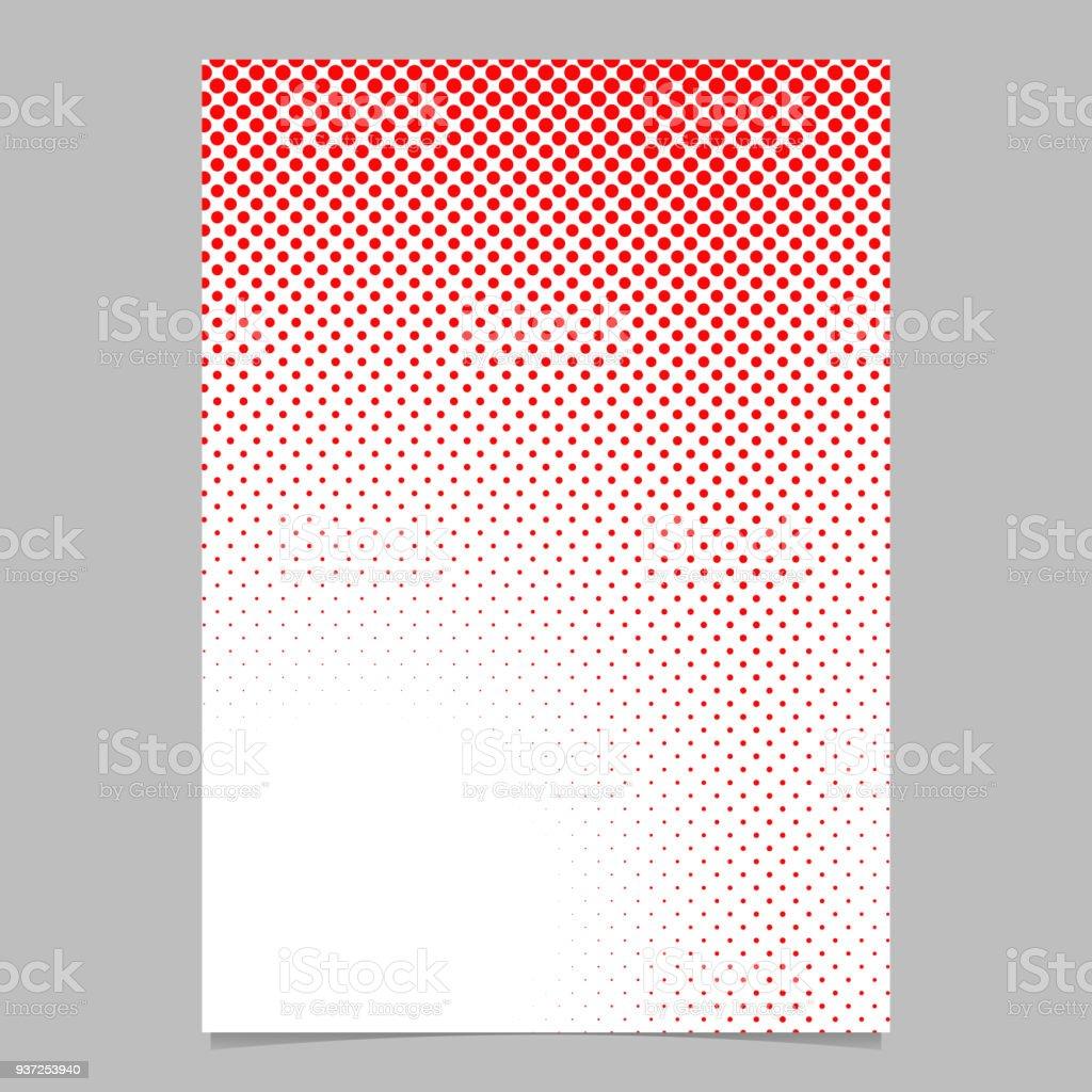 Geometrische Halbton Dot Muster Hintergrund Seitenvorlage Stock ...