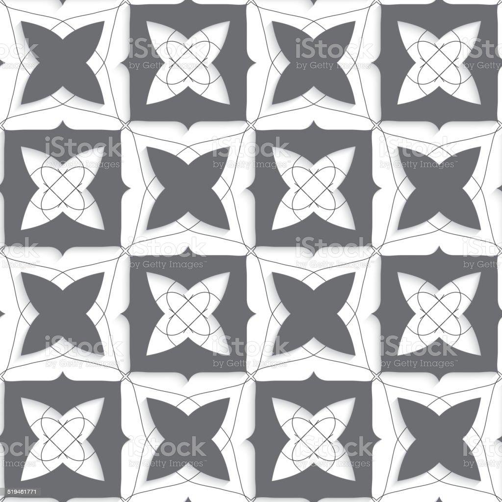 Geometrische Schmuckteil Mit Dünnen Draht Und Grau Formen Vektor ...