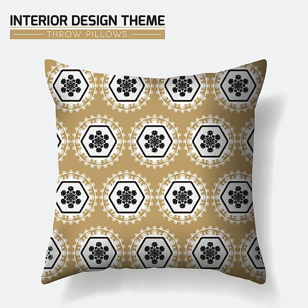 geometrisches muster wurfkissen gestaltung - leinensofa stock-grafiken, -clipart, -cartoons und -symbole