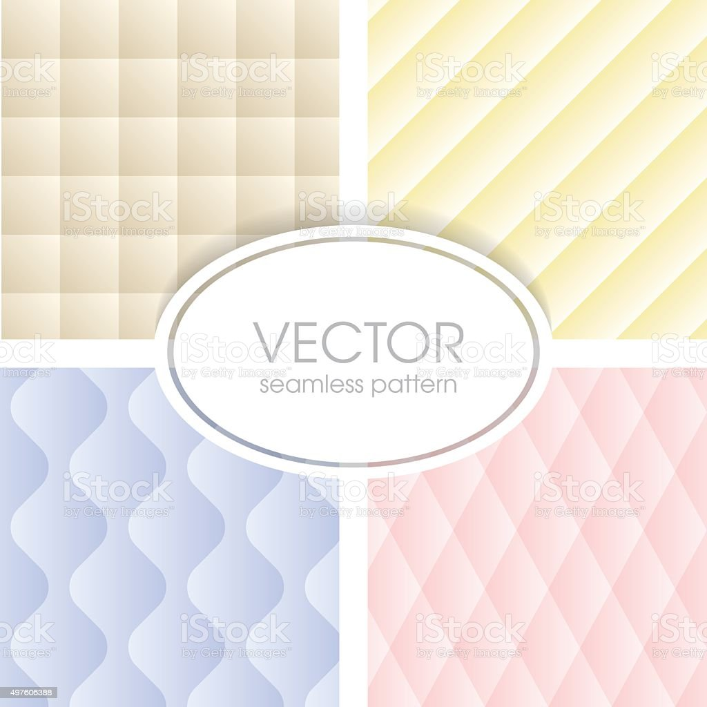 Geometrical seamless pattern collection vector art illustration